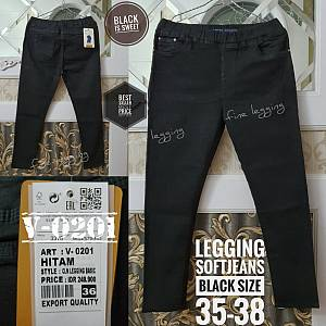 Legging Softjeans Black Size 35-38