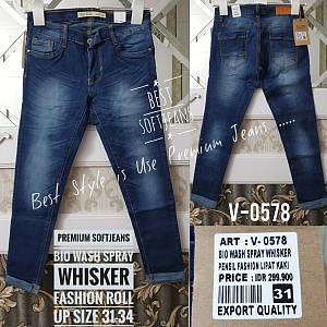 Premium Softjeans Bio Wash Medium Whisker Fashion