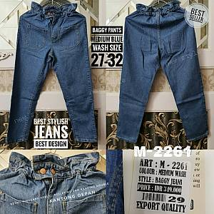 Baggy Jeans  Medium Blue Wash Size 27-32