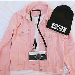 1). Jaket Zara Jeans Pink