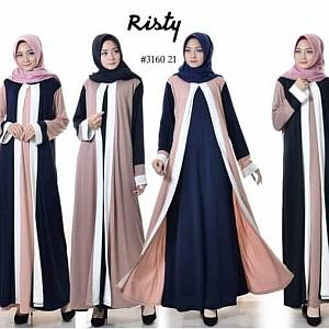 Gamis risty crepe