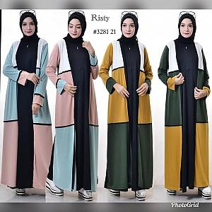 Gamis crepe risty