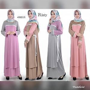 Gamis crepe ristyy