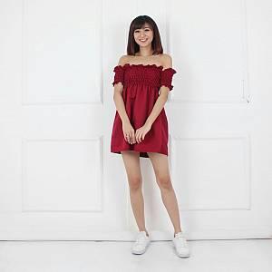 Prisket Dress Maroon