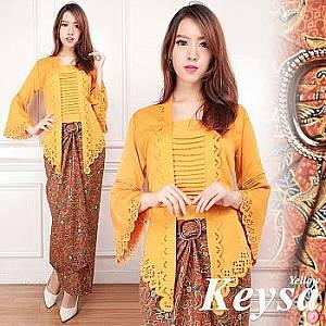 1). Tk Set Kebaya Keysa Yellow